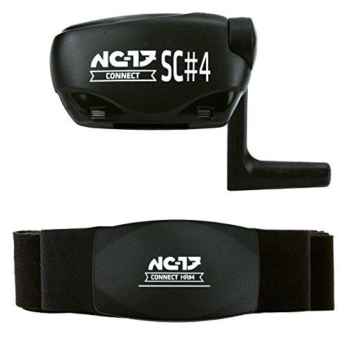 NC-17 HR#4/SC#4 Herzfrequenzmesser und Fahrrad-Sensor | Analysiert Puls, Geschwindigkeit, Trittfrequenz | Kompatibel zu ANT+, Bluetooth 4.0, Radcomputer, IOS iPhone und Android Smartphones sowie Windows Mobile 8.1 / wasserdicht