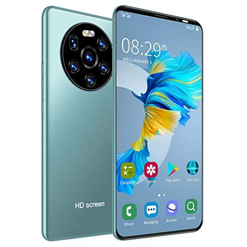 Zunate Mate40 Pro Unlock Smartphone, 5.45in HD Full Screen Dual SIM Cards Teléfonos Celulares, 512MB + 4GB MTK6572 Teléfono Móvil, Batería Incorporada de 1500mAh para Android(Verde)