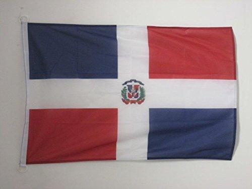 AZ FLAG Bandera de la REPÚBLICA Dominicana 90x60cm Uso Exterior - Bandera Dominicana 60 x 90 cm Anillos