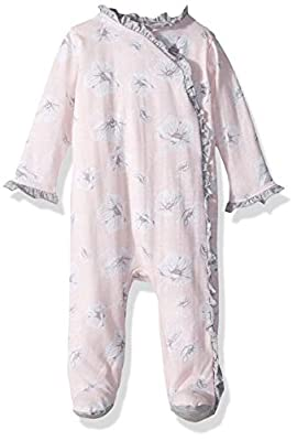 7 For All Mankind Baby Girls Footie Pajama, Bloom Print, 6-9 Months