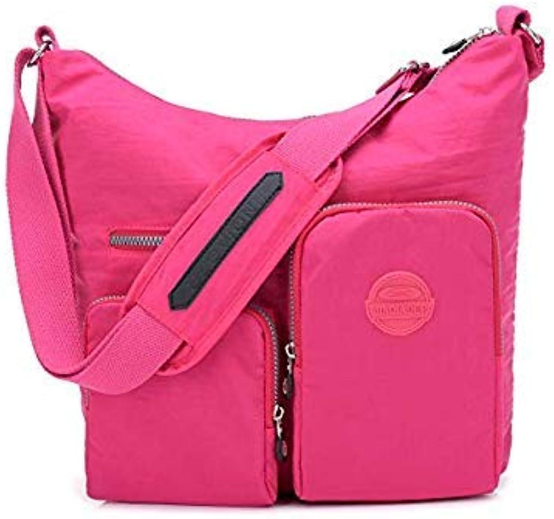 Bloomerang New Waterproof Women Messenger Bag Double Shoulder Bag Designer Handbags High Quality Nylon Female Crossbody Bag Bolsas Sac color Hot Pink