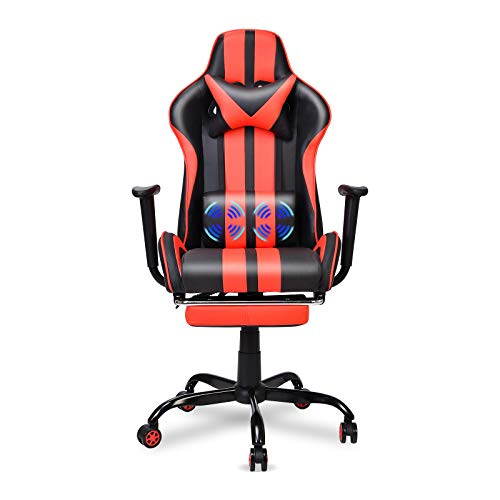 Massage Gaming Chair,Large Size Ergonomic Racing Style PC Game Computer...