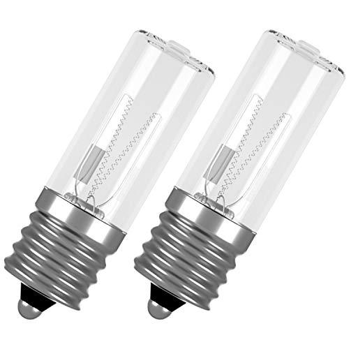 Lámpara desinfectante UV, esterilizador de lámpara UVC, lámpara de repuesto E17, lámpara UV de 3 W, 10 V, lámpara UV para esterilizador UV, desinfección de desodorante, 2 unidades