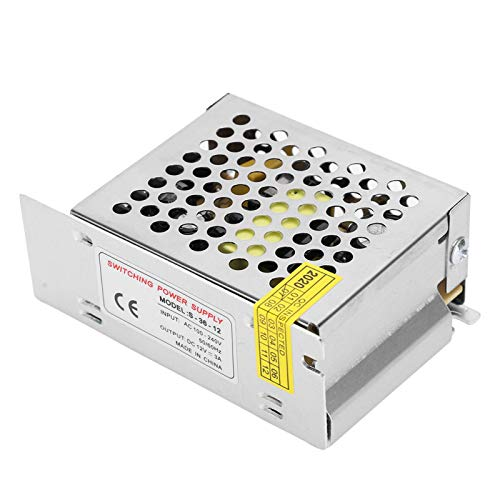 Dpofirs Adaptador de Controlador de Fuente de alimentación de Interruptor, Transformador regulado de aleación de Aluminio, para Pantalla LED, CCTV((S‑60‑12(S)(12V/5A/60W) AC100‑240V))