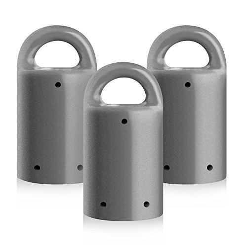MagnetPal 3 pack Heavy-Duty Neodymium Anti-Rust Magnet, Best for Magnetic Stud Finder / Key Organizer / Indoor and Outdoor Multi Uses, Gray with Key Ring (SP-MPM3GY)