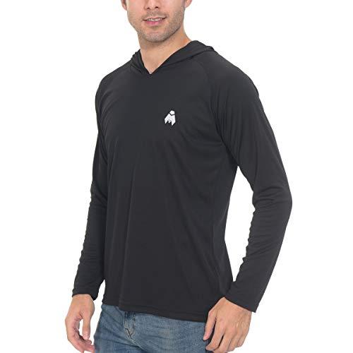 Midubi Mens T-Shirts Long Sleeve Rash Guard UPF 50+ UV Protection Outdoor Golf Tees Fishing Hiking Running Shirts with Hood