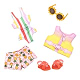 Glitter Girls by Battat – Bright as The Sun! – 14' Deluxe Swimsuit Doll Outfit – Toys, Clothes, & Accessories for Girls Ages 3 & Up, Brown