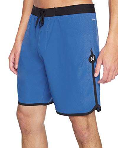 Pepe Jeans M Phtm Hyperweave Max Solid 18' Board Shorts, Pacific Blue, 38 Mens