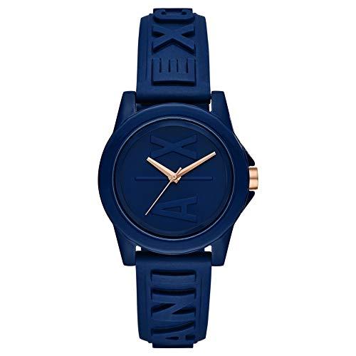 Armani Exchange Reloj de Tres manecillas para Mujer con Correa de Silicona Azul AX4368