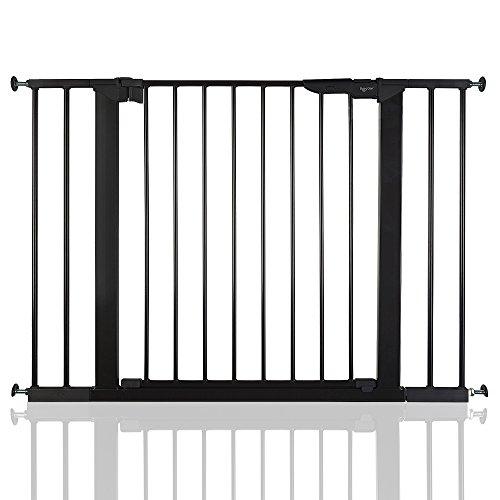 BabyDan Premier - Bebé Puerta de la Escalera Barrera de Seguridad Negro,...