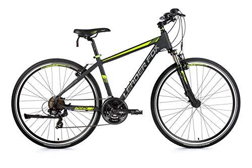 28 Zoll Alu Leader Fox Away Crosser MTB Fahrrad Crossrad schwarz grün Rh 57cm