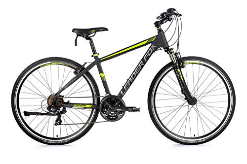 28 Zoll Alu Leader Fox Crosser MTB Herren Fahrrad Crossrad Mountain Bike RH 44cm schwarz grün