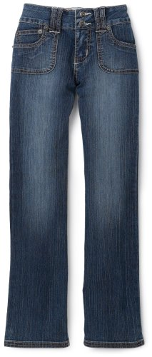 YMI Big Girls' Porkchop Pocket Boot Cut Pants,Ocean Blue,7