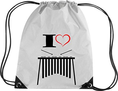 Camiseta stown Premium gymsac Música I Love xilófono, plata