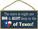 SJT ENTERPRISES, INC. The Stars are Big & Bright Deep in The Heart of Texas 5' x 10' Wood Plaque Sign (SJT13207)