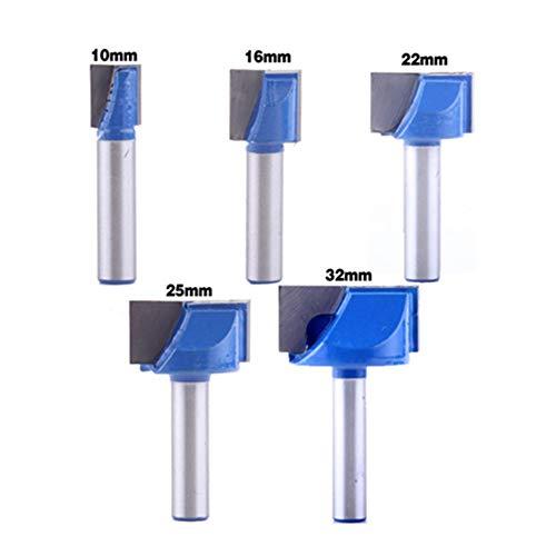 WSOOX 8mm Schaft Bodenreinigung Fräser Set 5 Stück Fräser Schaftfräser Holzbearbeitungswerkzeug Bit 10/16/22/25/32mm
