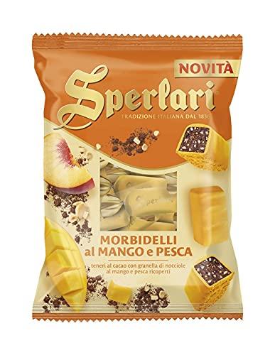 Sperlari - Torroncini Morbidelli Teneri al Cacao e Mango e Pesca Ricoperti, Senza Glutine - 117 gr