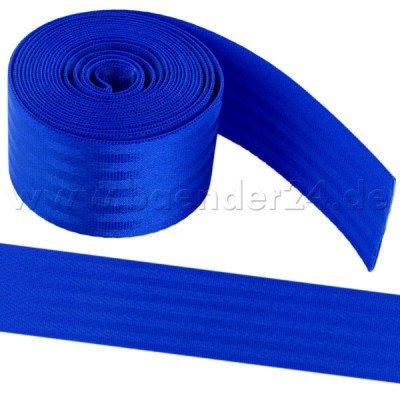 1m blaues Sicherheitsgurtband aus Polyamid, 38mm breit, bis 1,5t belastbar