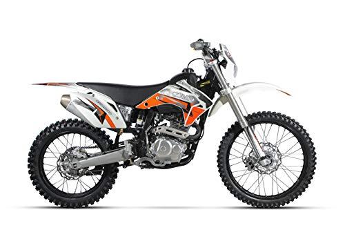Cenkoo K2 - Motocross de enduro y todo terreno de 250 cc, refrigeración por aire, ruedas de 21/18 pulgadas, color blanco