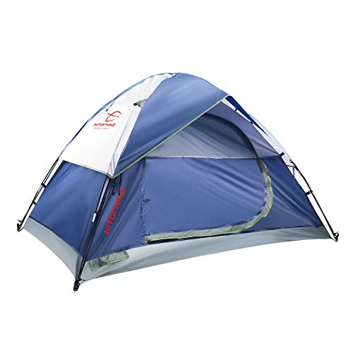 Hitorhike Camping Tent 2-3 Person Tent Ultralight Easy Set Up and Carry Family Tent Backpacking Tent for Camping, Hiking, Outdoor Festivals, Car Trip (2-3 Person Tent)