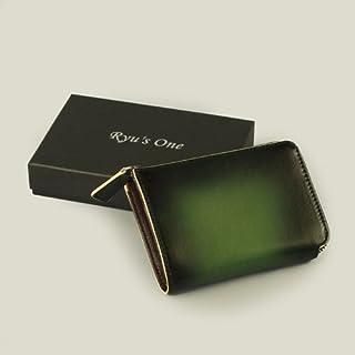 服部 RYU'S ONE リューズワン GGシリーズ 牛革製コインケース グリーン 15-4002-GR