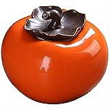HSWYJJPFB Tarros de Almacenamiento Caqui Carrito de té de cerámica del pote del té Sellado del Tanque de Almacenamiento portátil for el Almacenamiento 8x7cm Y Decoración Naranja