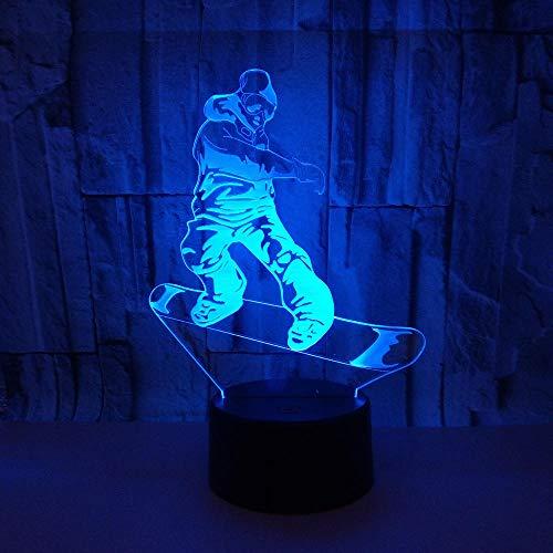 Scooter sport, 7 kleuren knipperende USB-aanraakschakelaar Symphony licht vriendin's nachtlampje verjaardagscadeau