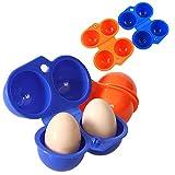 Huevera portátil Cartón de huevos portátil Huevera de plástico Seguro y...