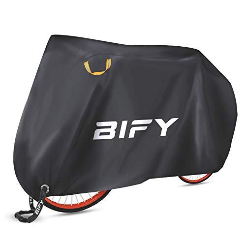 BIFY Fahrradabdeckung L/XL/XXL wasserdicht190T hochwertige Fahrrad/Motorradabdeckung,Wasserdicht Fahrrad Schutzhülle mit Schlosslöcher,Sonnenschutz und Regen(190T-XL)