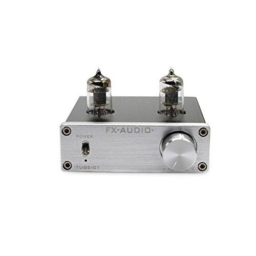 Nobsound Mini 6J1 Vakuumröhre Vorverstärker Stereo HiFi Puffer Vorverstärker Valve Vacuum Tube Pewamplifier Preamp Buffer (Silber)