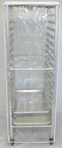 World Manufacturing RC-COV-REG Vinyl PVC Heavy-Duty Clear Vu Rack Cover for Full-Size Sheet Pan Rack, 12 mil Thick, 23' Length x 28' Width x 62' Height