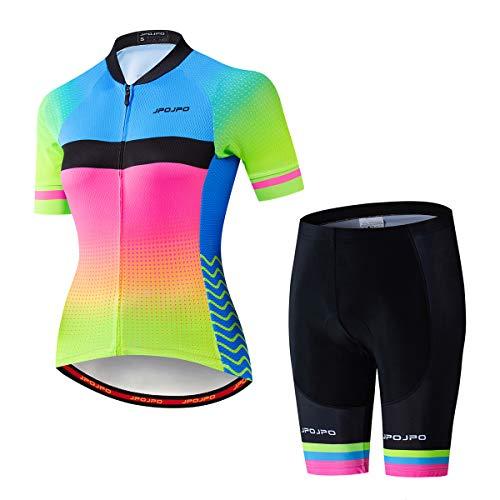 Weimostar Frauen Radtrikot Set Sommer Radsportbekleidung MTB Trikot Set Schnelltrocknend Atmungsaktive Sommer Fahrrad Uniformen