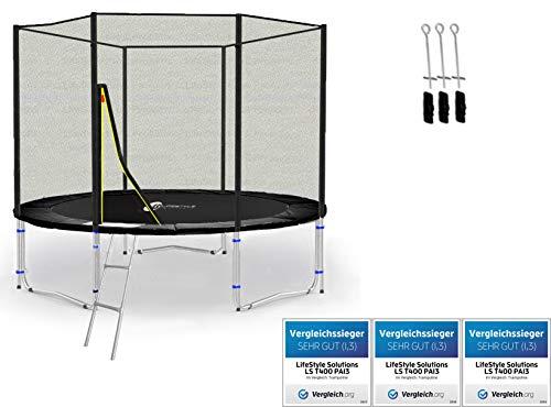 LifeStyle ProAktiv LS-T245-PA8 (SA) Trampolino da Giardino 245cm - Strength Rete di Sicurezza - New