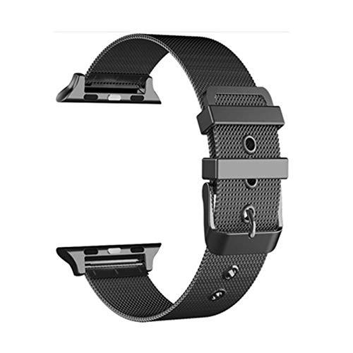 Correa milanesa de metal para Apple Watch, pulsera de acero inoxidable para reloj iWatch 5/4/3/2-Black, para 42MM - 44MM