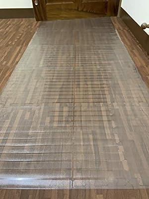 """Ottomanson Hard Floor Clear Plastic Protector, 26"""" X 10'"""