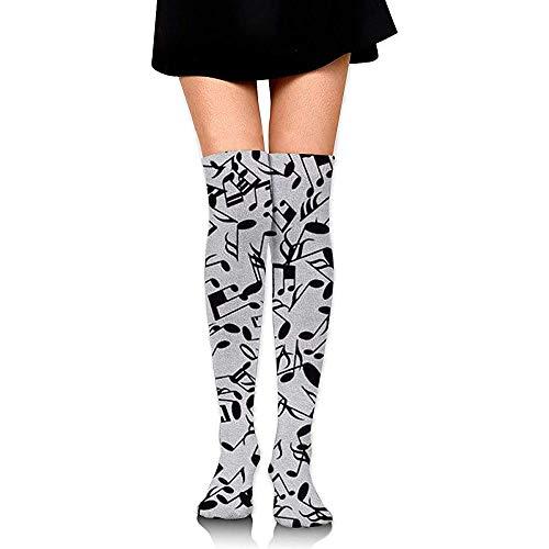 Jesse Tobias Calcetines hasta la rodilla Símbolo de música desordenada Calcetines largos Calcetines de compresión de media de arranque para mujeres