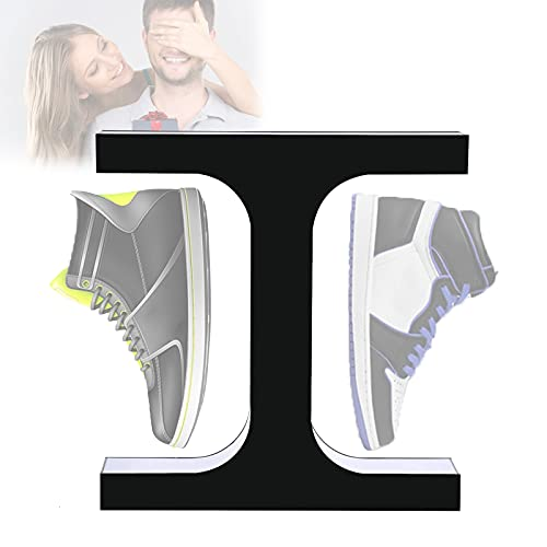 EnweKapu Zapatero Organizador Zapatos,Levitacion Magnetica Estanterias Zapatos,Levitación Magnética Soporte Muestra Rotación 360° para Exhibición Zapatillas,Exhibición Centro Comercial