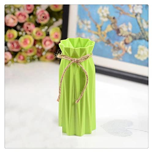 JEZZ Jarrón de decoración para el hogar, florero de cerámica de imitación, Maceta, Cesta de Flores, decoración nórdica para Bodas, jarrón para decoración de Dormitorio (Color : Green)