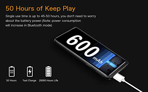 "32GB MP3 Player, Mibao MP3 Player with Bluetooth 4.2, Music Player with FM Radio, Recording, 2.4"" Screen, HiFi Lossless Sound, Support up to 128GB(Earphone, Sport Armband Included) … 5"