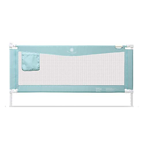 FMEZC Crib Rail Extra Long barrière de sécurité bébé Rail de lit de Sommeil lit Stable Stable Swing Down Clôture Mesh pour Enfants, Long 120-220cm (Taille: 220 cm)