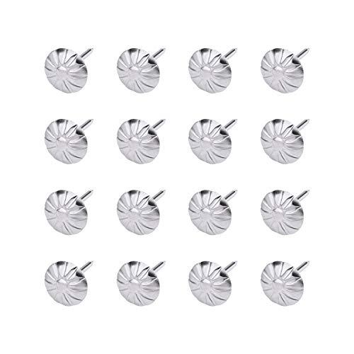 MICGEEK 100 Stücke Polsternägel Ziernägel Vintage Polsterung Nägel Sofa Schaum Nagel Polster dekorative Möbel Nägel antike deko Reißnägel Reißzwecke für Dekoration Blumenmuster Pflaumen