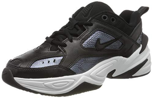 Nike W M2K TEKNO ESS, Zapatillas de Atletismo Mujer, Multicolor (Black/Black/Mtlc Hematite/Summit White 001), 39 EU