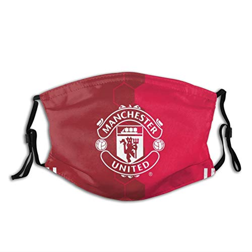 Nicegift Man-Chester United Man Utd Mu-Fc Unisex Multi Usage Face Mask Reusable Polyester Breathable Dustproof Mouth-Mask 5.9x7.9 Inch(15 X 20 Cm)
