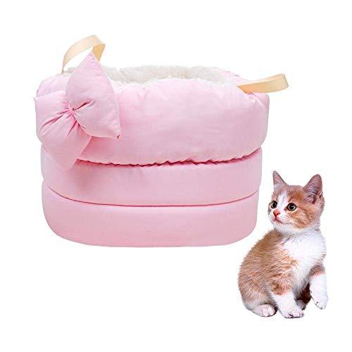 Jfjhcww Lits pour Chats d'intérieur - Lit Auto-Chauffant pour Chats Petits et Grands.Un lit pour Chien Mignon, Moderne, Confortable et Chaleureux (Color : Pink)