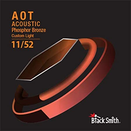 Blacksmith Pro cuerdas de guitarra acústica revestidas de bronce fósforo personalizado luz 11-52 Nano Shield