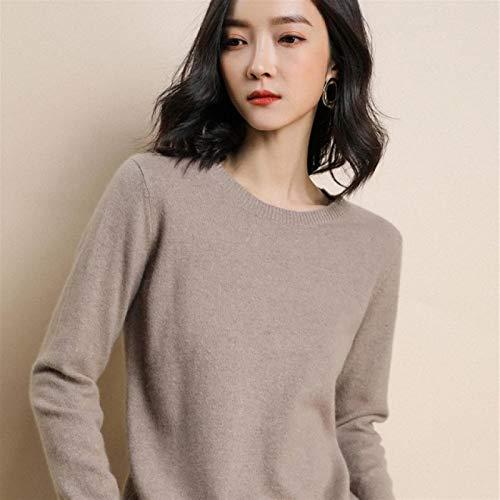 sanshi Las Mujeres De Punto S De La Primavera O-Cuello del Suéter del Suéter del Otoño Y Las Damas Jersey Zzzb (Color : D, Size : XXX-Large)