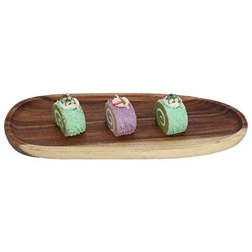 Piatto per piatti Salver Irregolare Vassoio portaoggetti in legno di acacia Snack Scatola...