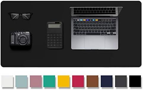 Leather Desk Pad Protector Mouse Pad Office Desk Mat Non Slip PU Leather Desk Blotter Laptop product image