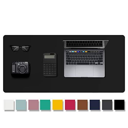 AothiaLeder Pad,Mauspad, Büro Schreibtischmatte, rutschfester PU Leder Schreibtisch, Laptop Schreibtisch Pad, wasserdichtes Schreibtisch Schreibpad für Büro und Zuhause (91cm x 43cm, Black)