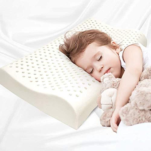 Natuurlijke Latex Peuter Kussen met Wasbaar Katoen Kussensloop Zachte Organische Ademende Baby Kussen Beschermingshals Hypoallergeen